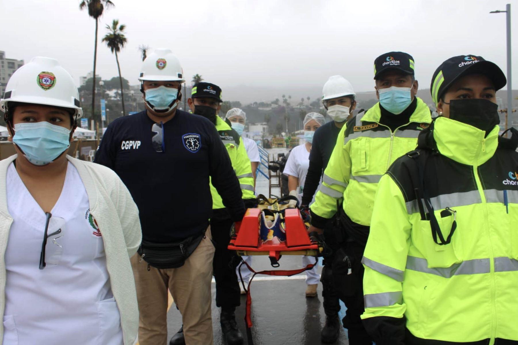 Chorrillos realiza simulacro de evacuación ante posibles sismos en la Playa Agua Dulce