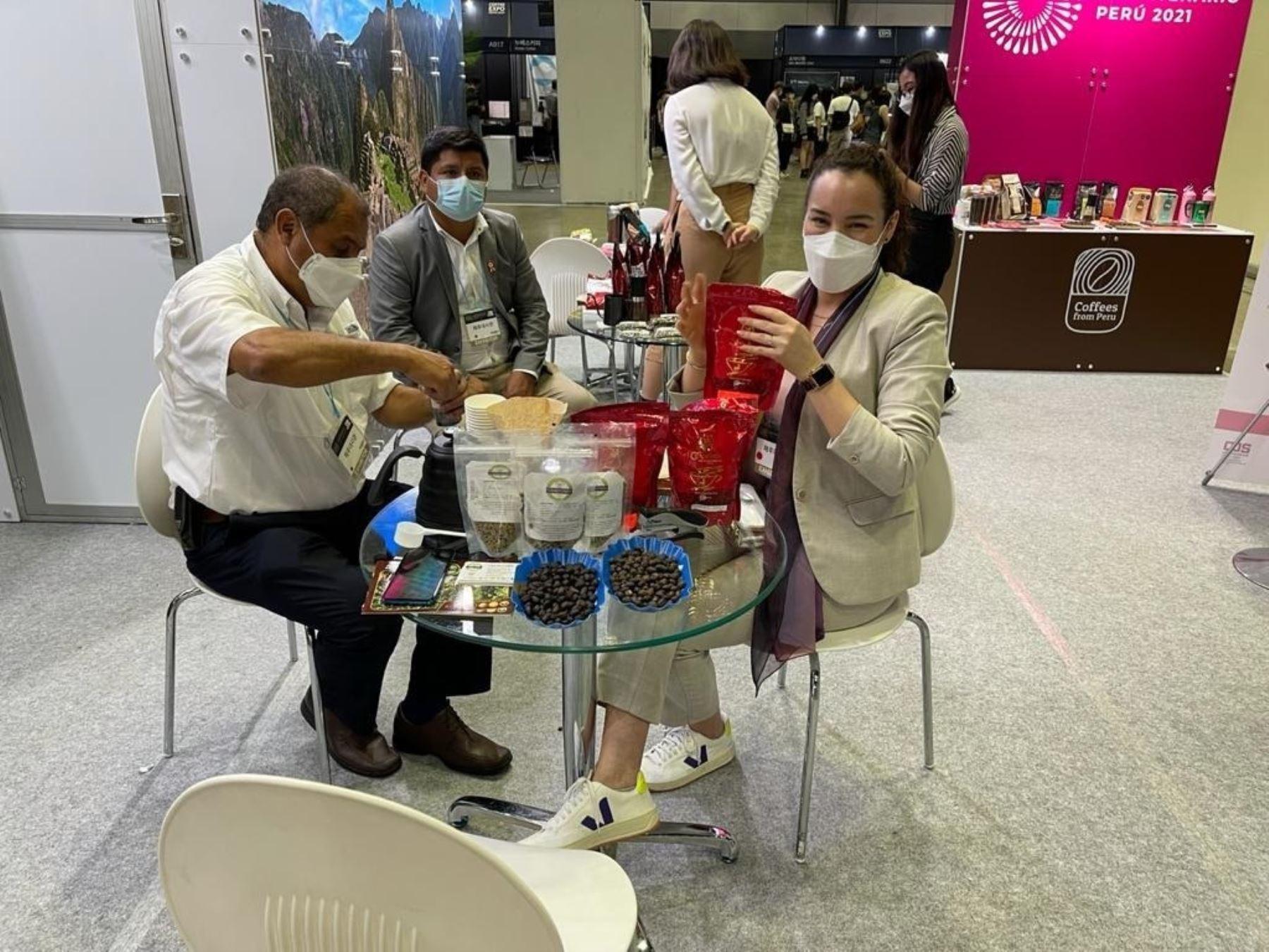 Orgullo peruano: café de Piura se luce en feria mundial Expo Café Seúl 2021 de Corea