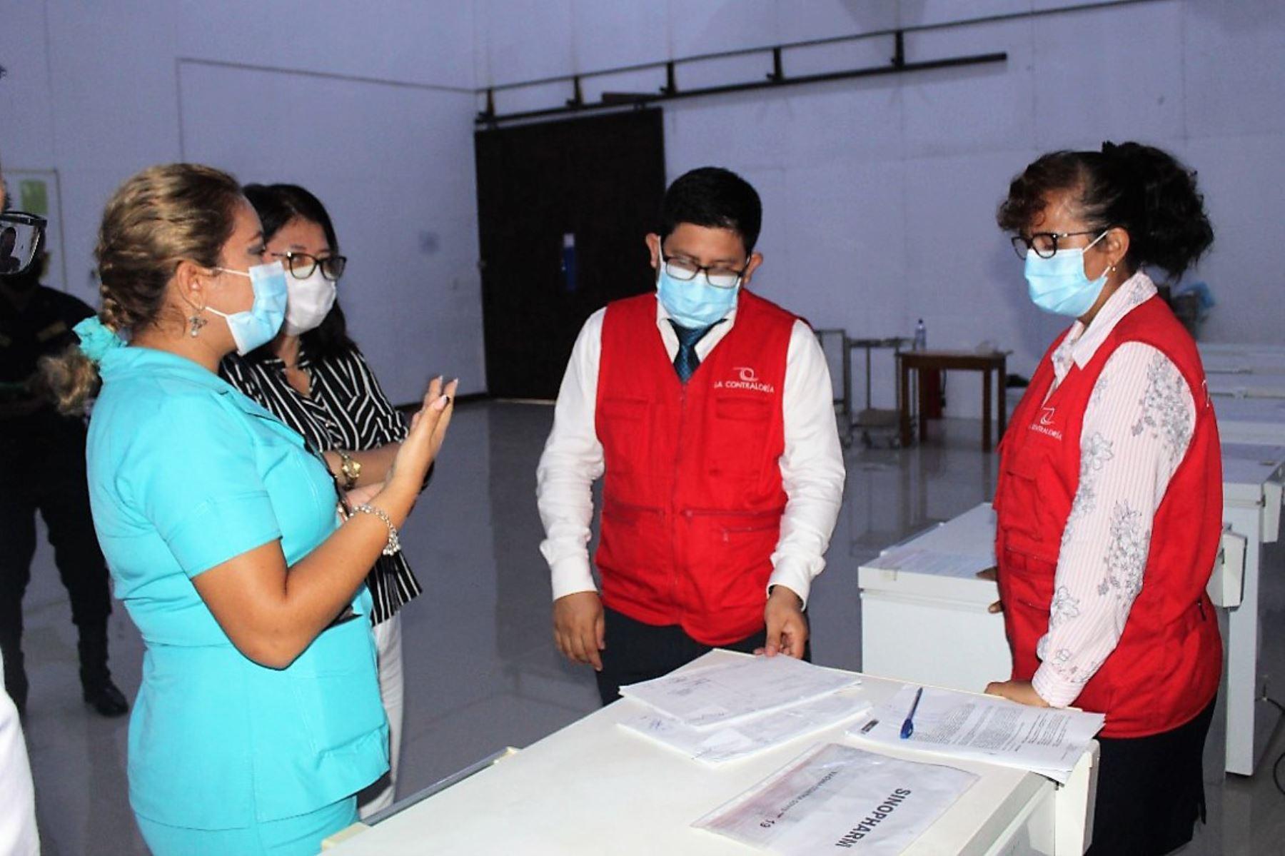 Informe de control advierte riesgo de perder vacunas contra el covid-19 en la región Ucayali. Foto: Contraloría/difusión.