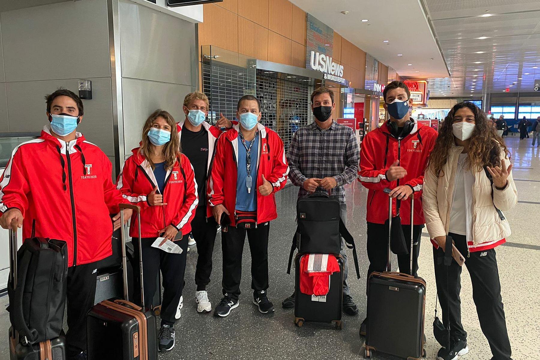 Equipo peruano de tabla se encuentra rumbo a Juegos Olímpicos Tokio 2020