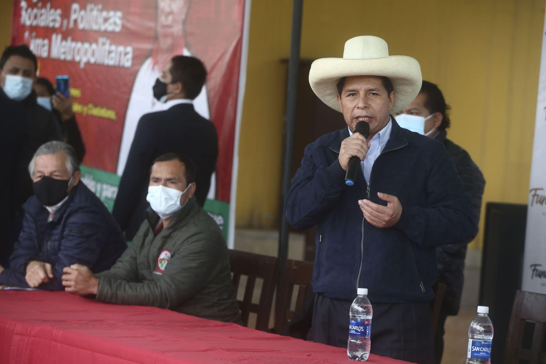 Pedro Castillo: anuncios oficiales sobre gobierno se darán tras proclamación del JNE