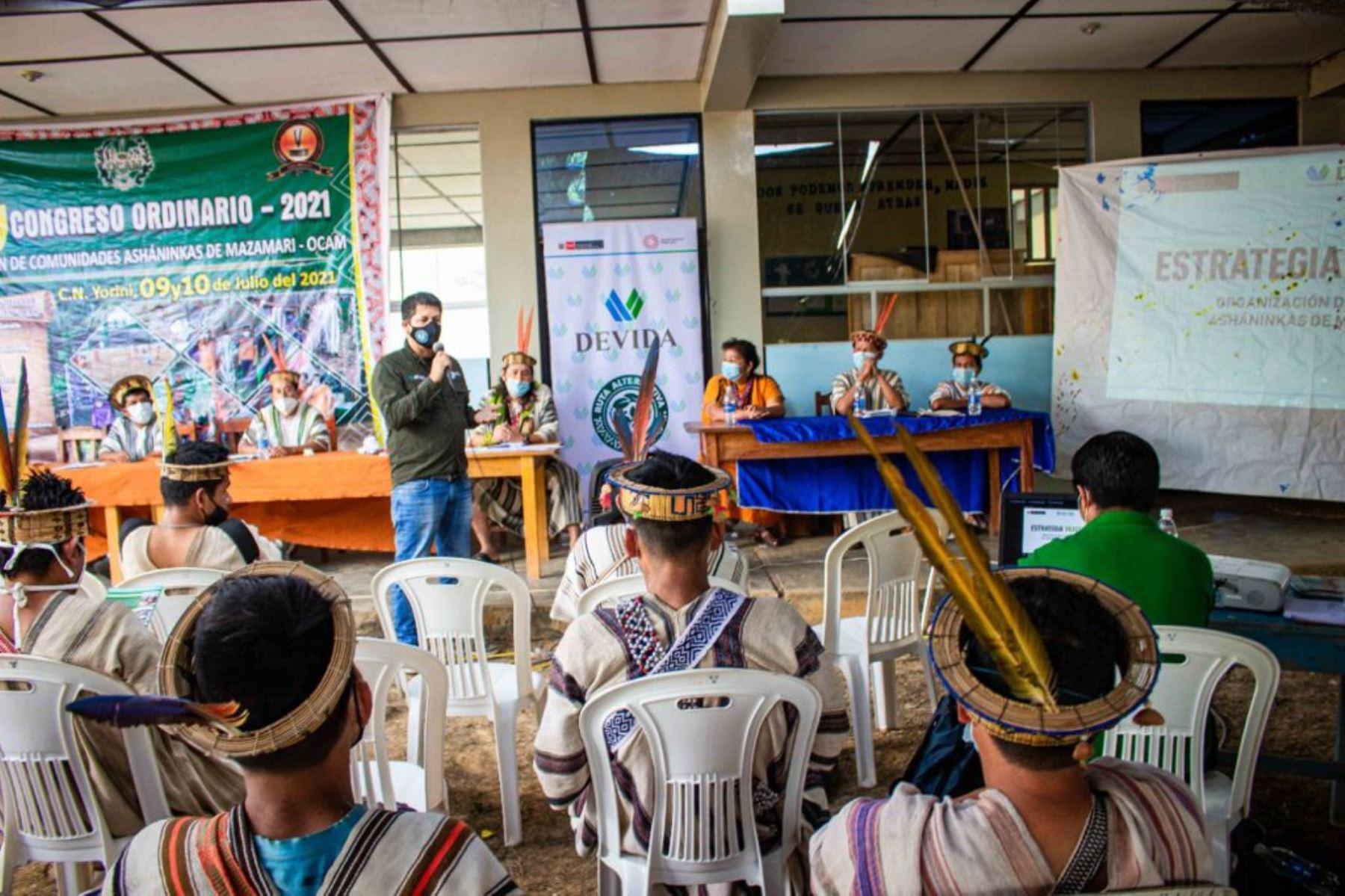 Vraem: Devida presenta avances en intervenciones de apoyo a comunidades asháninkas