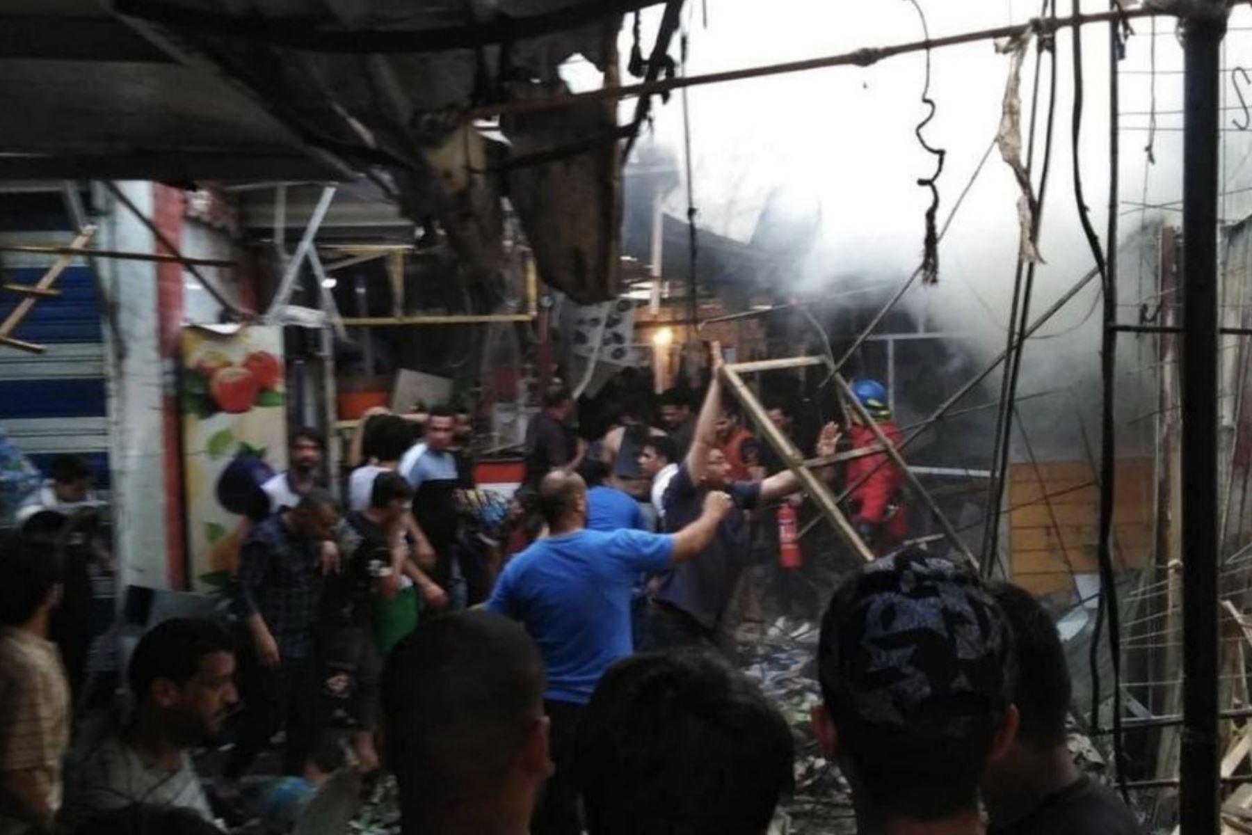 Al menos 15 muertos y más de 40 heridos por explosión en un mercado de Bagdad