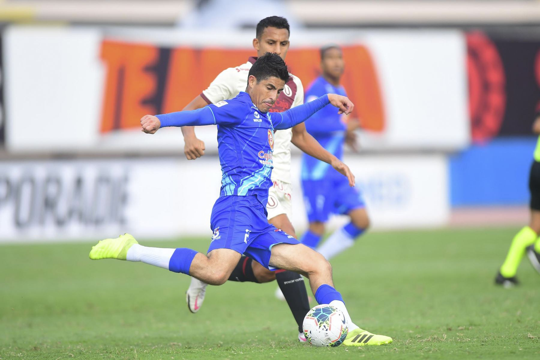 Universitario choca ante Alianza Atlético por la primera fecha de la Liga 1, en el Estadio Miguel Grau del Callao. Foto: Liga 1