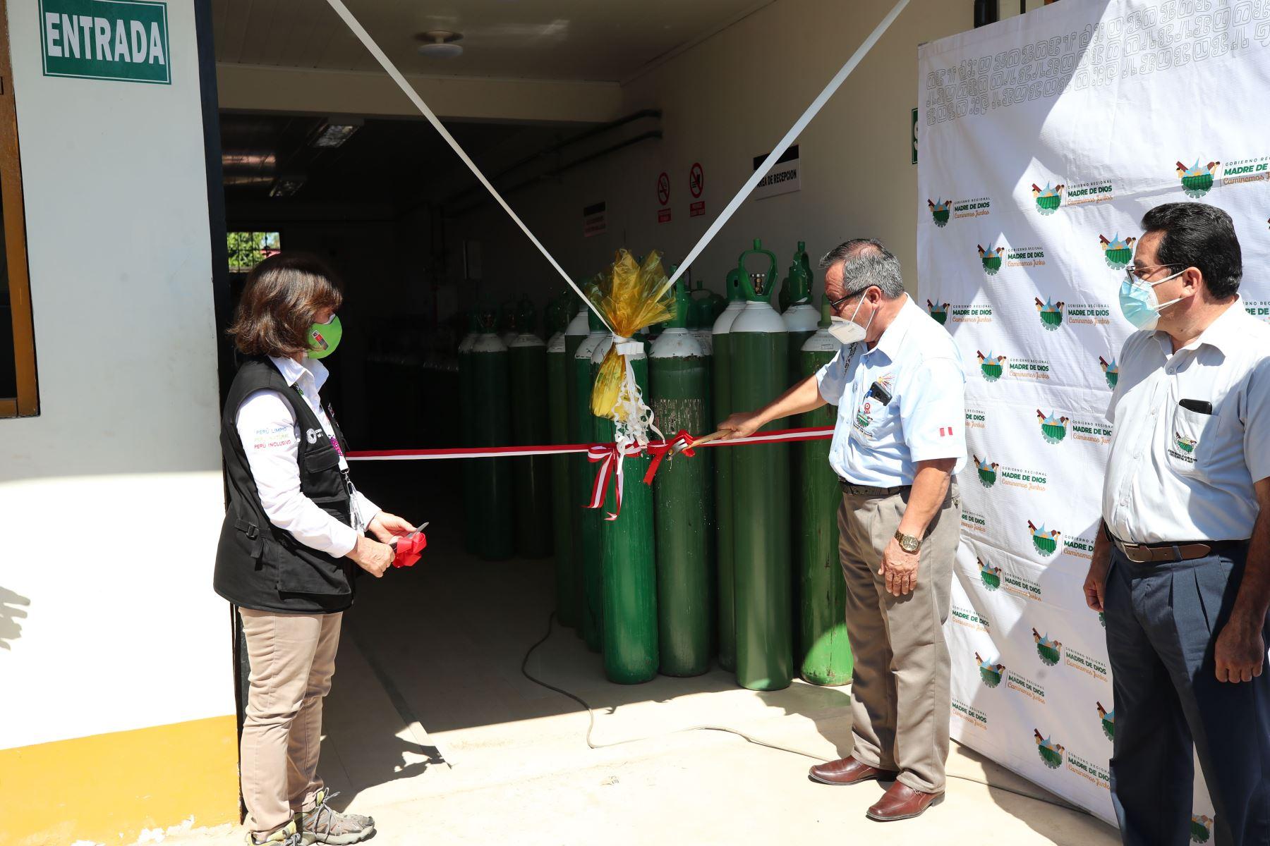Madre de Dios: inauguran planta de oxígeno medicinal en el Hospital Santa Rosa