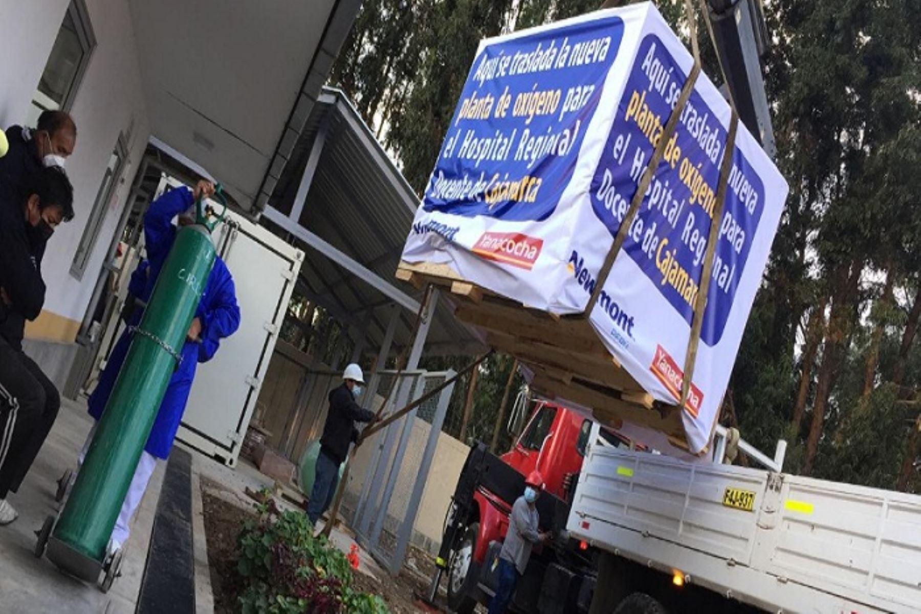 Cajamarca: minera dona segunda planta de oxígeno al Hospital Regional Docente