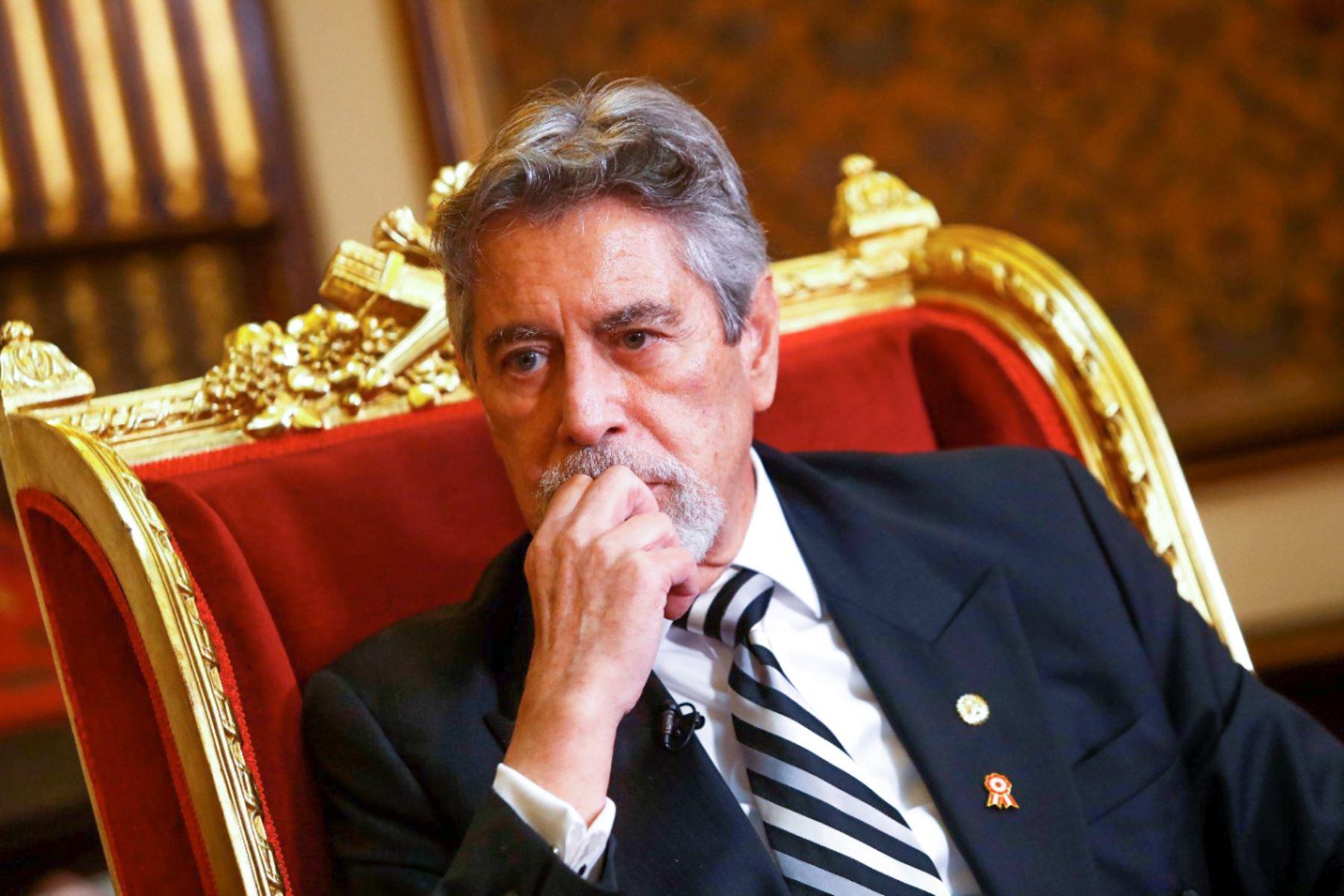 Presidente Sagasti concede entrevista a la Agencia Andina y Diario El Peruano. Foto: ANDINA/ Prensa Presidencia