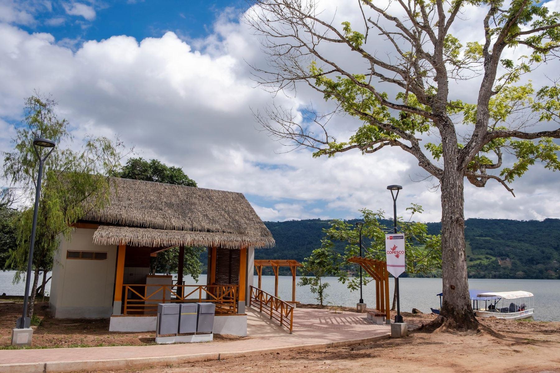 Plan Copesco inauguró una obra de infraestructura turística cerca de la famosa laguna Sauce, uno de los destinos más importantes de la región San Martín. Foto: ANDINA/Difusión.