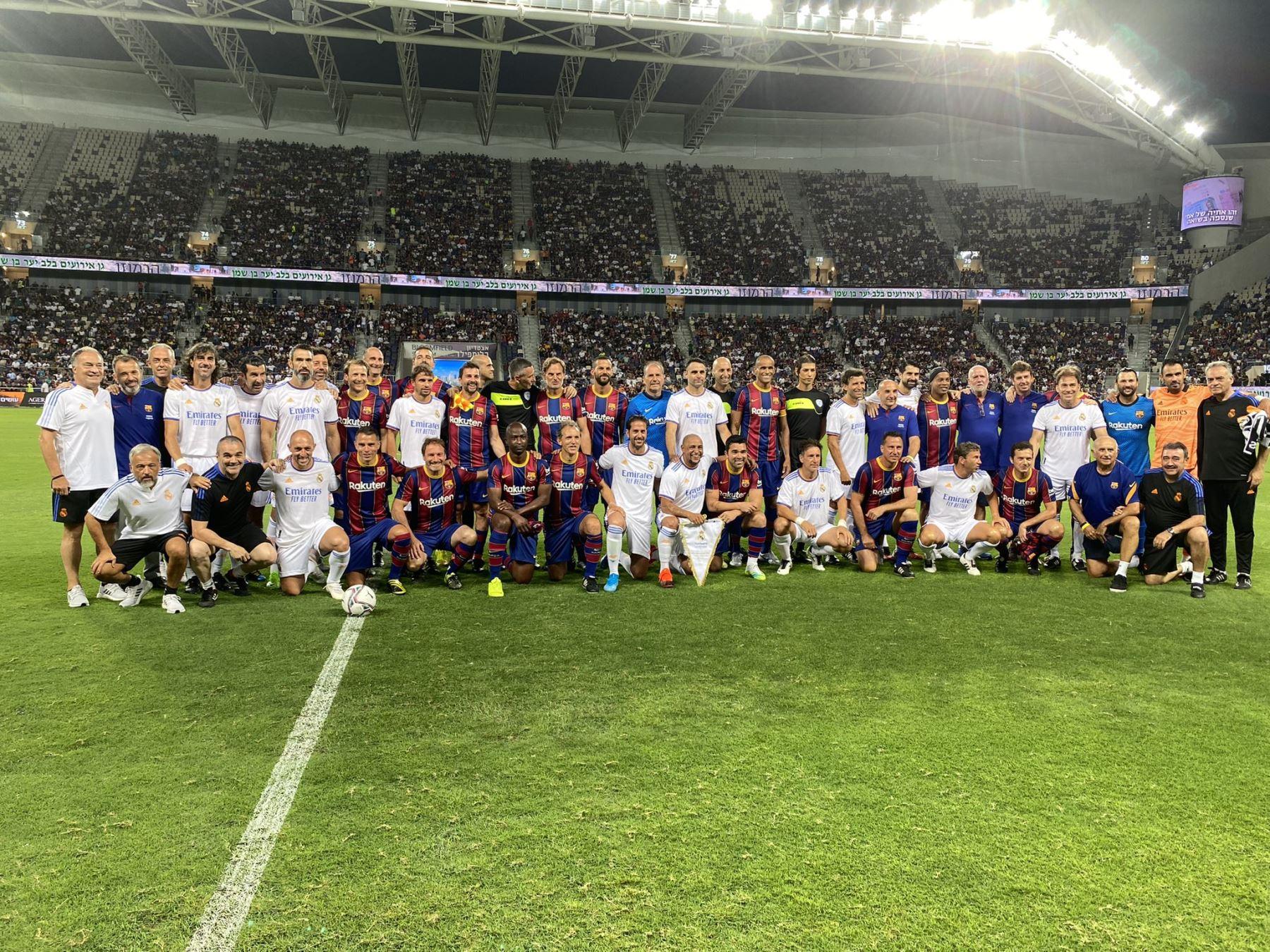 Las leyendas del Real Madrid y Barcelona se reencontraron en Israel