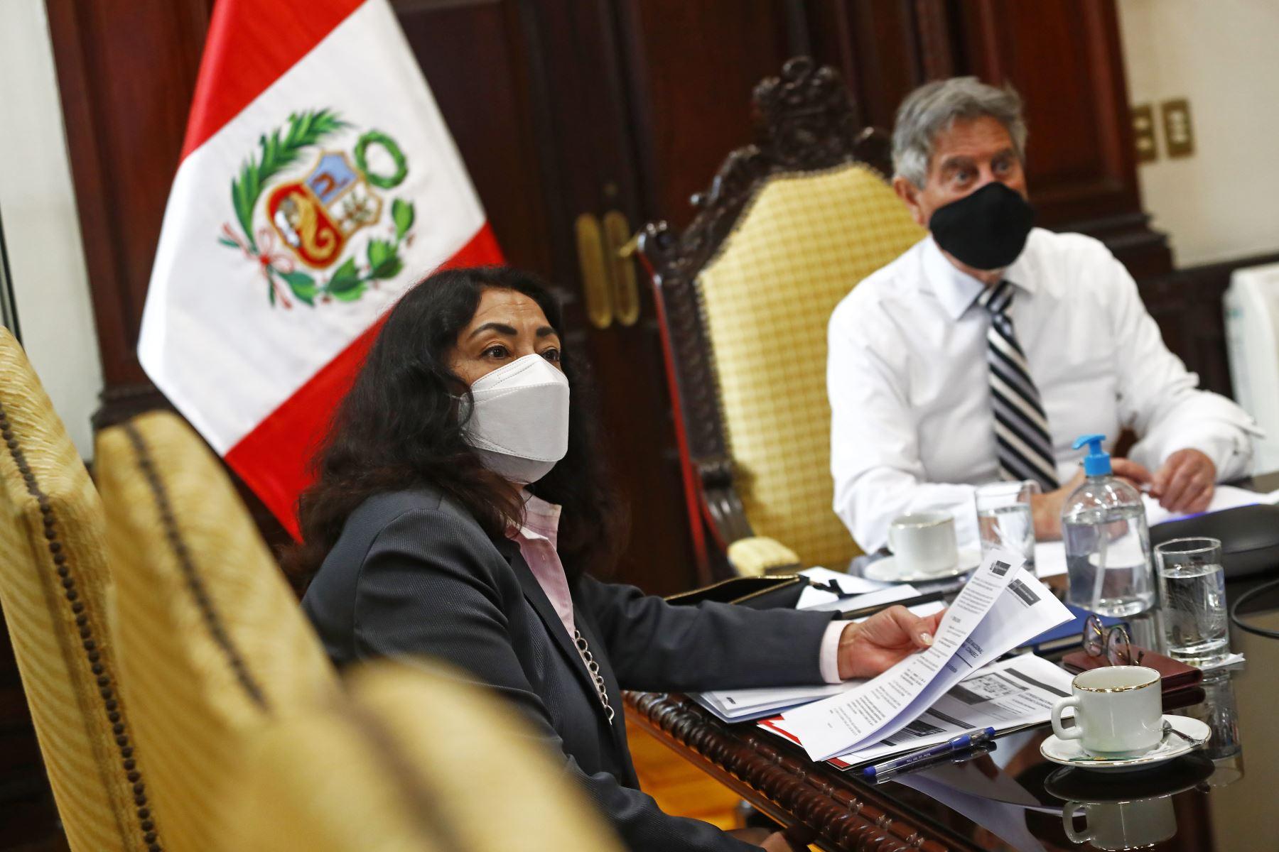 El presidente Francisco Sagasti participó en la tercera sesión del Consejo Nacional de Seguridad Ciudadana (Conasec), donde se evaluó los avances de la implementación de las bases para el fortalecimiento y la modernización de la Policía Nacional del Perú. Foto: ANDINA/Prensa Presidencia