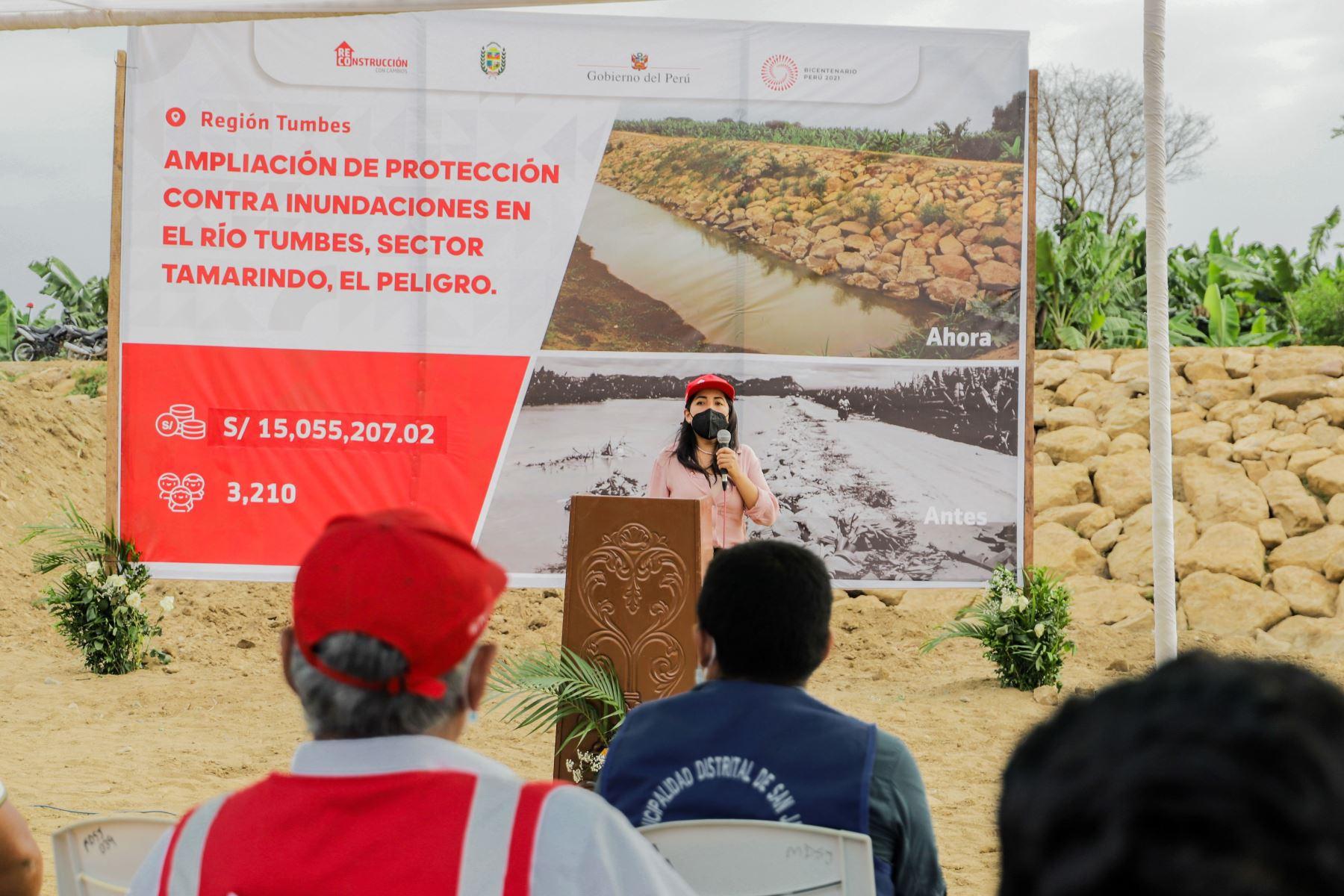 La población de Tumbes se beneficia con la ejecución de obras que impulsa la Autoridad para la Reconstrucción con Cambios. Foto: ARCC/Difusión.