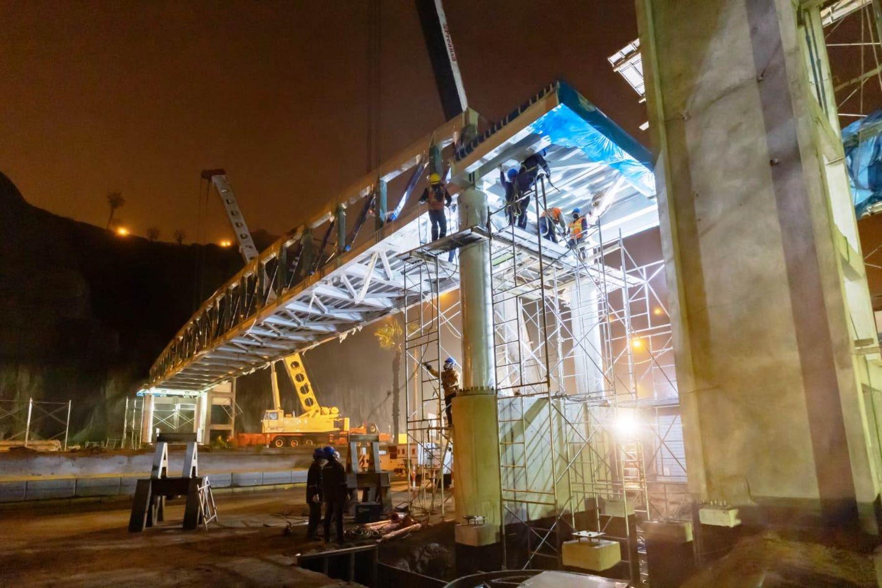 Costa Verde: Municipalidad de Lima realizó montaje de segundo puente inclusivo