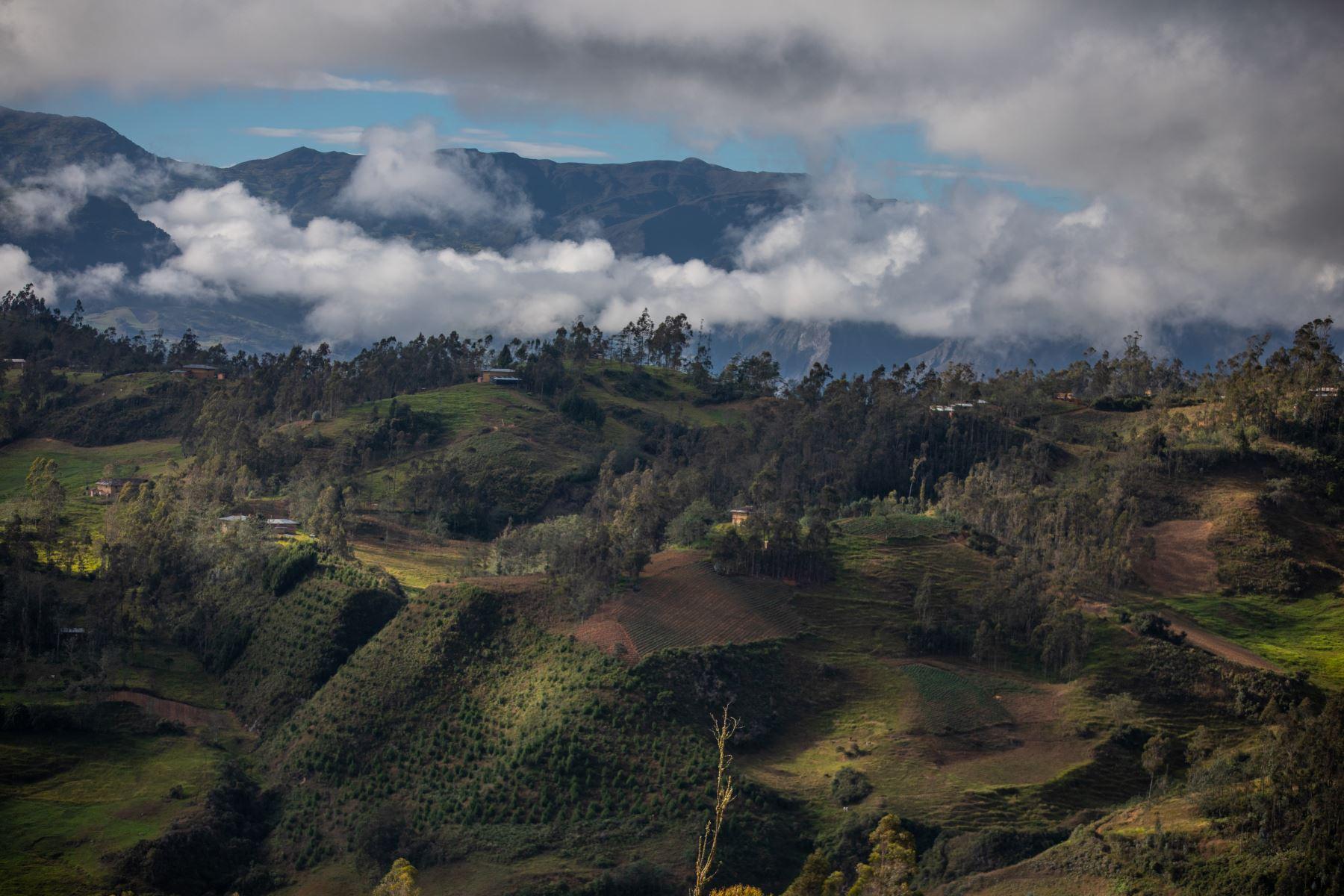 El centro poblado de Puña, distrito de Tacabamba, en Cajamarca. Foto: ANDINA/Andrés Valle