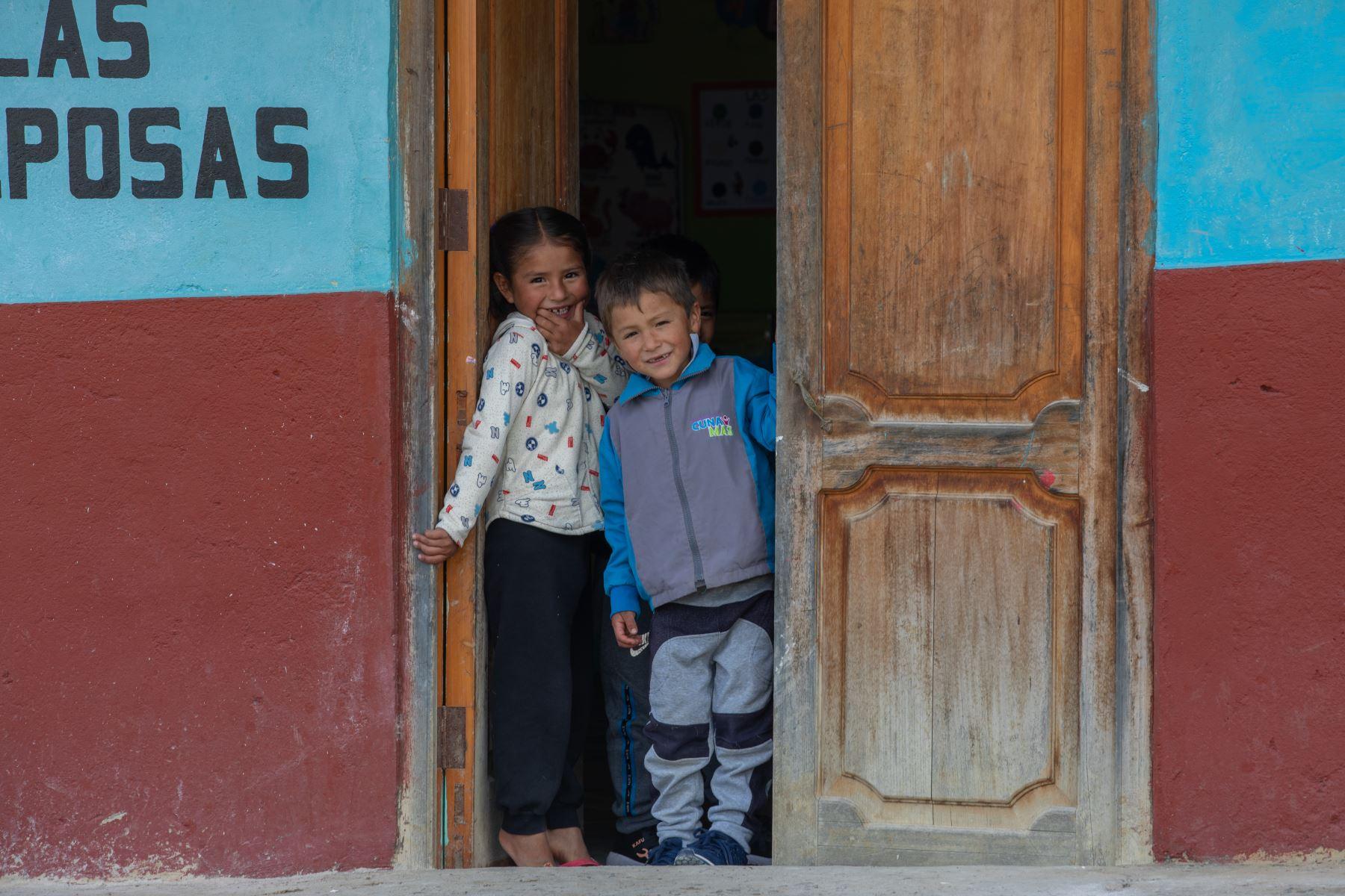 La niñez en la localidad de Puña, distrito de Tacabamba, en Cajamarca. Foto: ANDINA/Andrés Valle