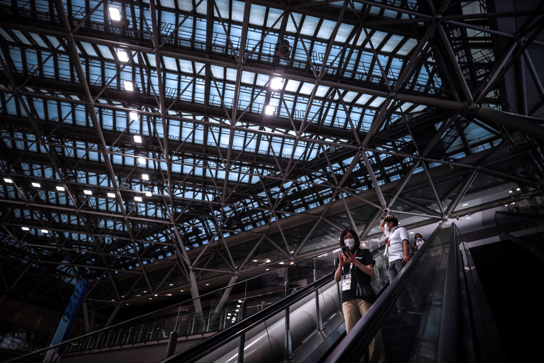 Vista desde el centro para la prensa a dos días de la esperada inauguración de los Juegos Olímpicos de Tokio 2020. Foto: EFE