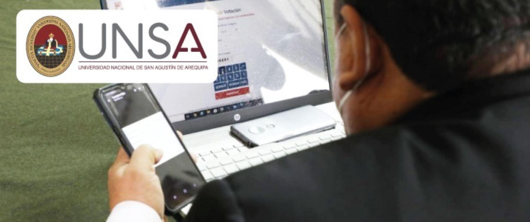 Arequipa: rector de la Unsa será elegido con plataforma virtual de la ONPE