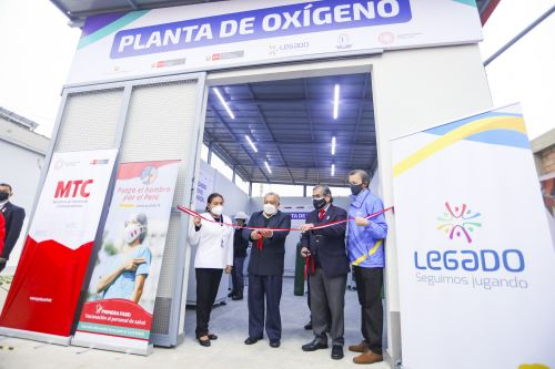 Titulares del Minsa y MTC inauguraron planta de oxígeno en el Instituto Nacional de Rehabilitación de Chorrillos