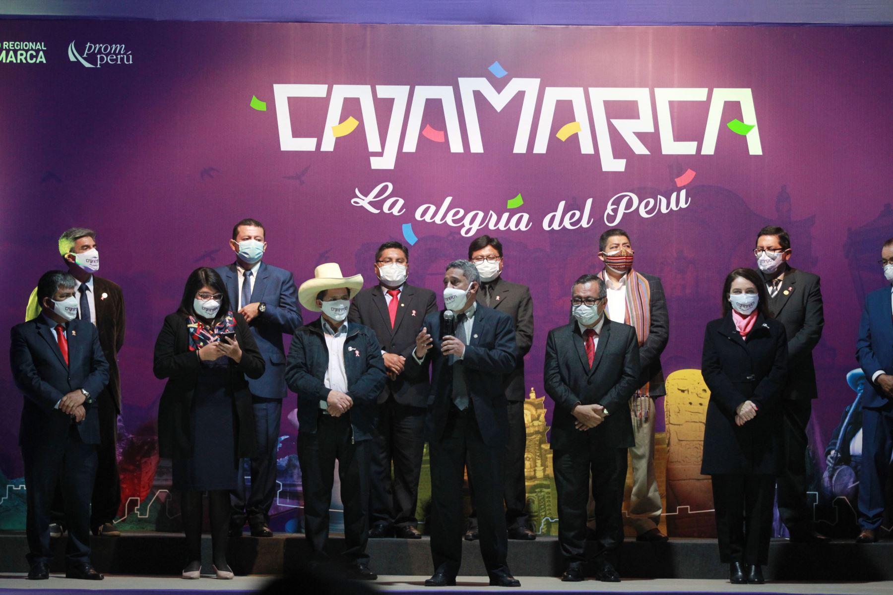 Lanzamiento de la Marca Cajamarca a nivel nacional desde el Circuito Mágico del Agua.  Foto: ANDINA/Jhony Laurente