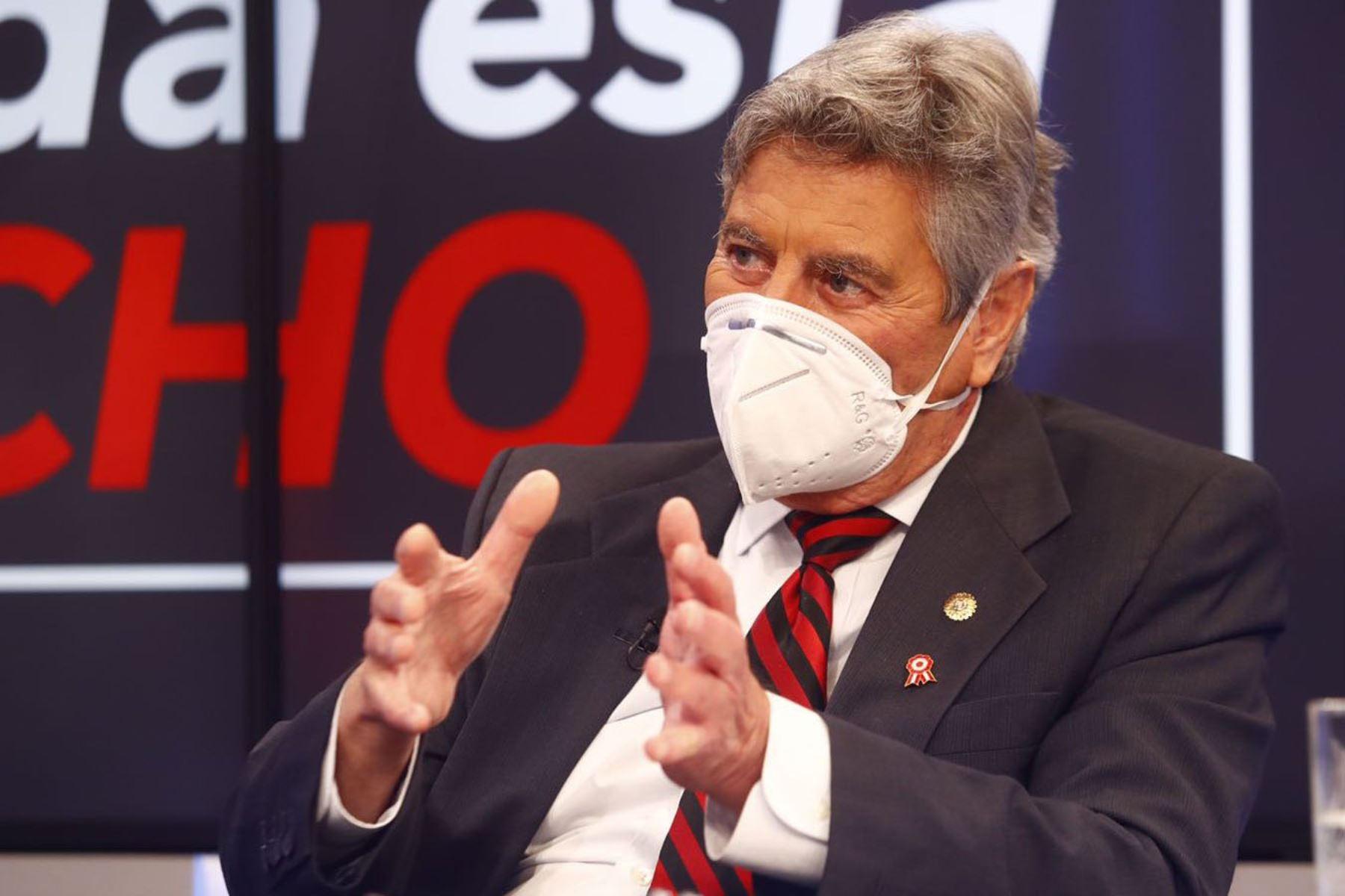 Presidente Sagasti, brinda entrevista a periodista Jaime Chincha en RPP TV. Foto: ANDINA/Prensa Presidencia