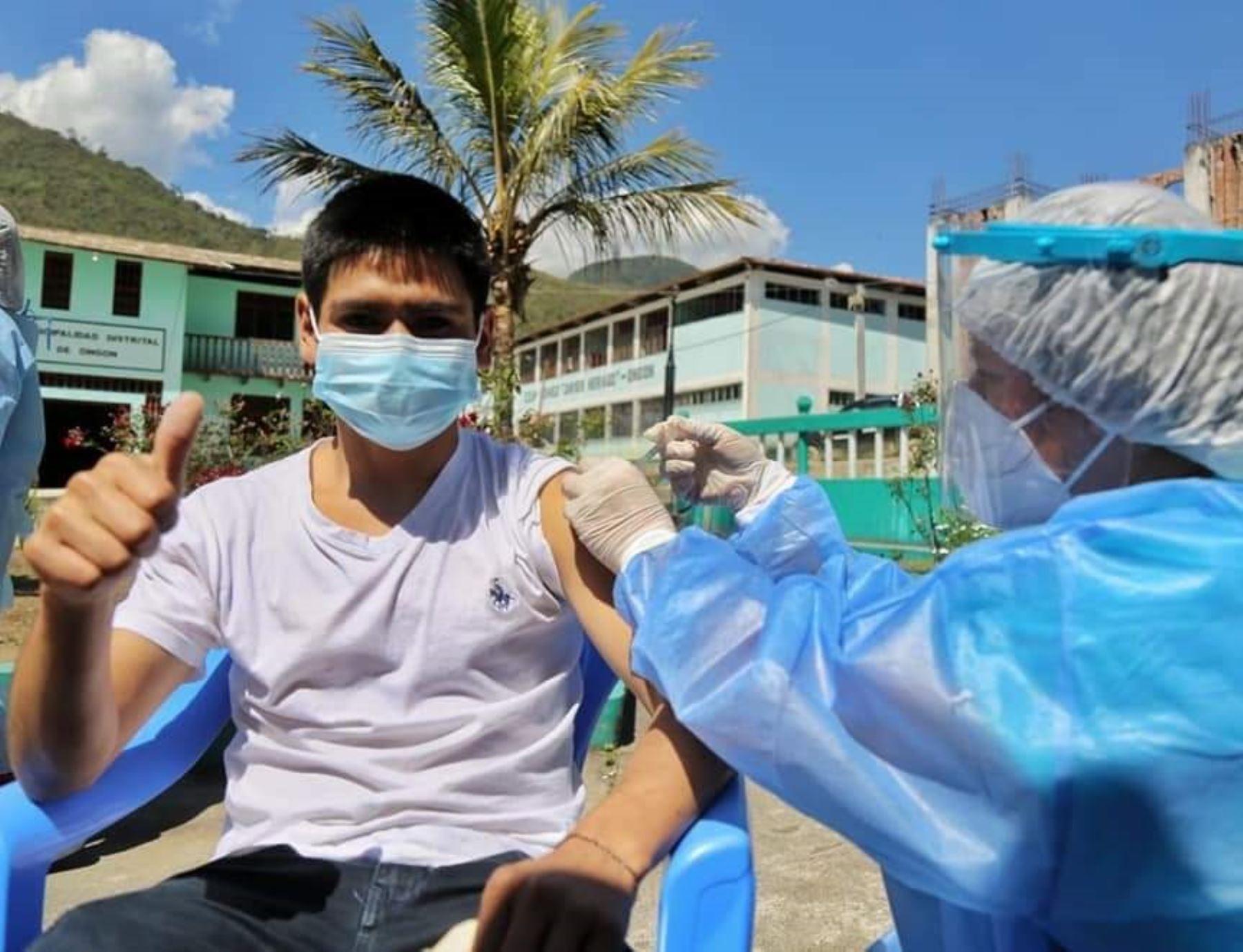 La Libertad vacunará a 45,000 personas mayores de 18 años de provincias de Bolívar y Pataz