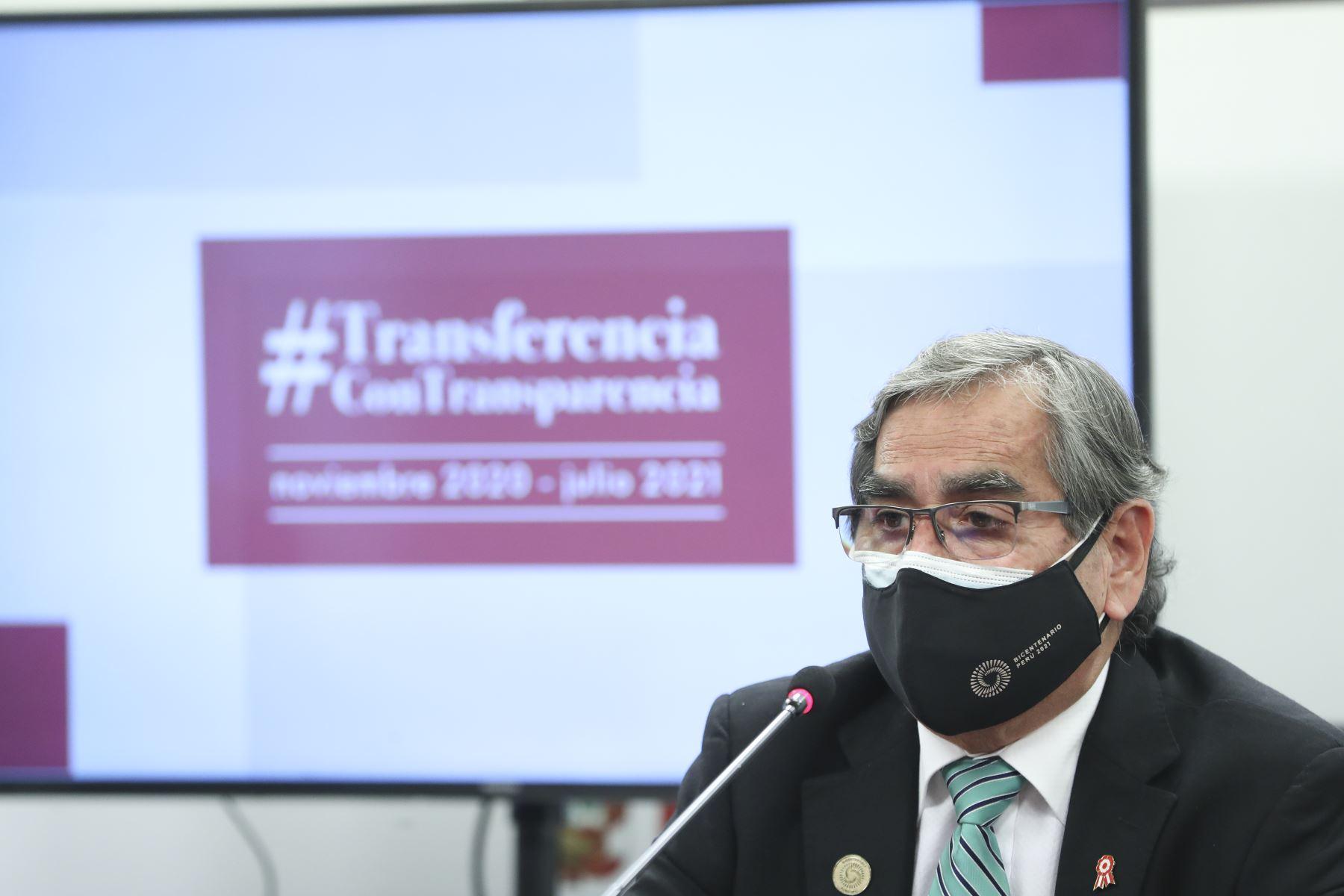Ministro de Relaciones Exteriores, Allan Wagner, brinda conferencia de prensa sobre el balance de su gestión. Foto: ANDINA/PCM