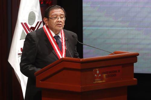 Ttular del JNE, Jorge Luis Salas. ANDINA/Juan Carlos Guzmán