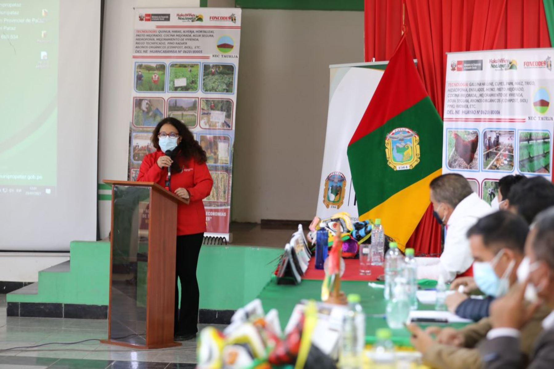 La titular del Midis, Silvana Vargas, participó en la presentación de la Agenda de Competitividad y Desarrollo Territorial de Pataz. Foto: ANDINA/Difusión