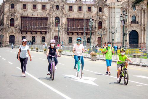 Este domingo 25 se llevarán a cabo la bicicleteada Pedaleando por el Bicentenario del Perú y el programa Al Damero de Pizarro sin carro. Además, se habilitará la ciclovía recreativa de la Av. Arequipa.