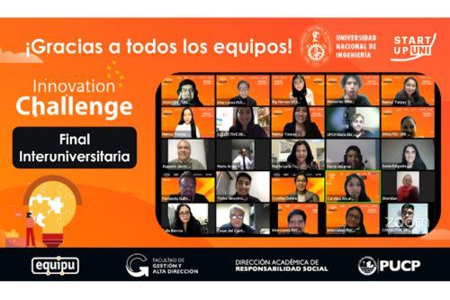 """Amautec"""", ocupó el primer puesto en la Final Interuniversitaria del Innovation Challenge 2021, programa formativo de emprendimiento e innovación en el que compitieron con otras universidades públicas y privadas del país"""