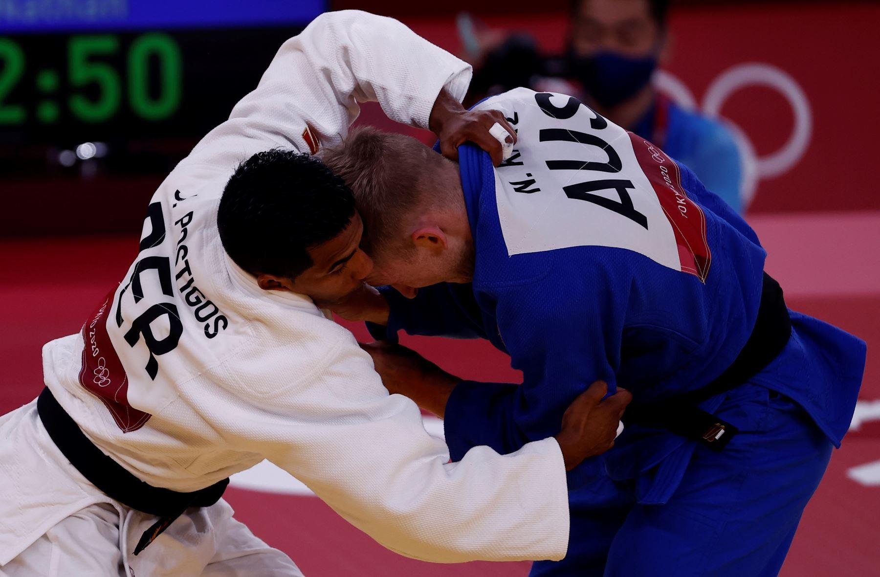 Juan Positgos no pudo y quedó eliminado en judo en Tokio 2020