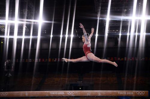 Gimnasta peruana Ariana Orrego compitió en  los Juegos Olímpicos de Tokio 2020