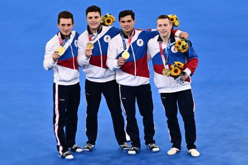 El equipos de hombres de gimnasia artística de Rusia ganó la medalla dorada