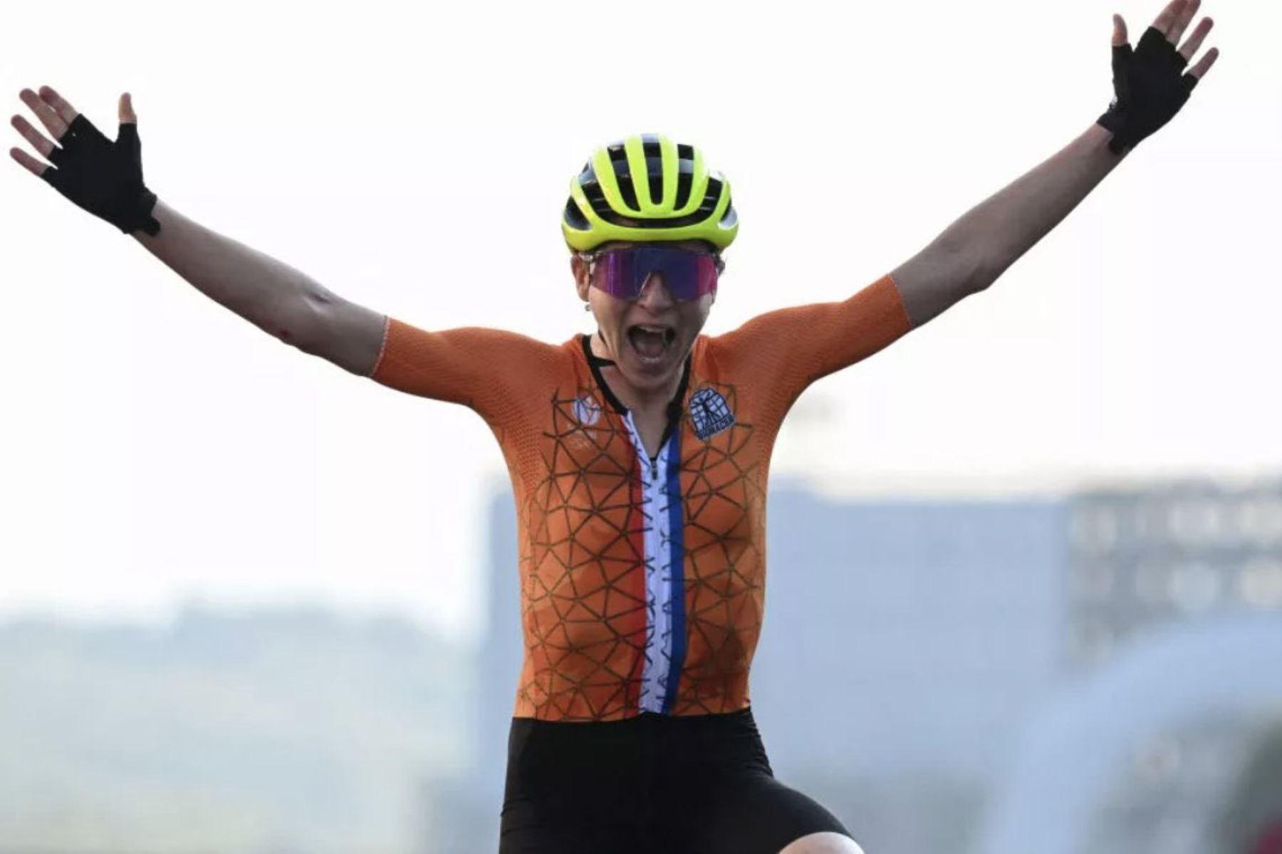 Annemiek van vleuten celebró como si hubiera ganado la medalla de oro