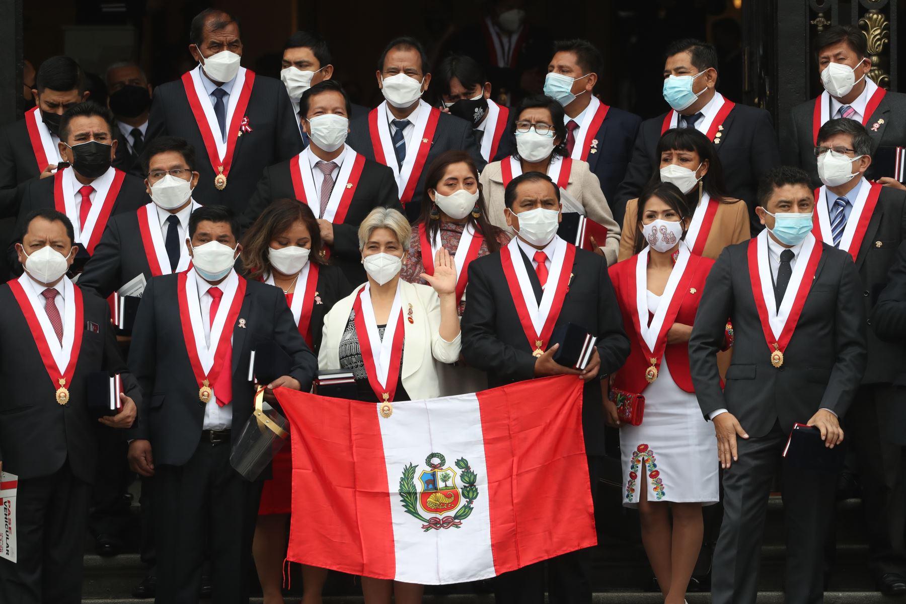 Integrantes de la bancada de Perú Libre. ANDINA/Carla Patiño Ramírez