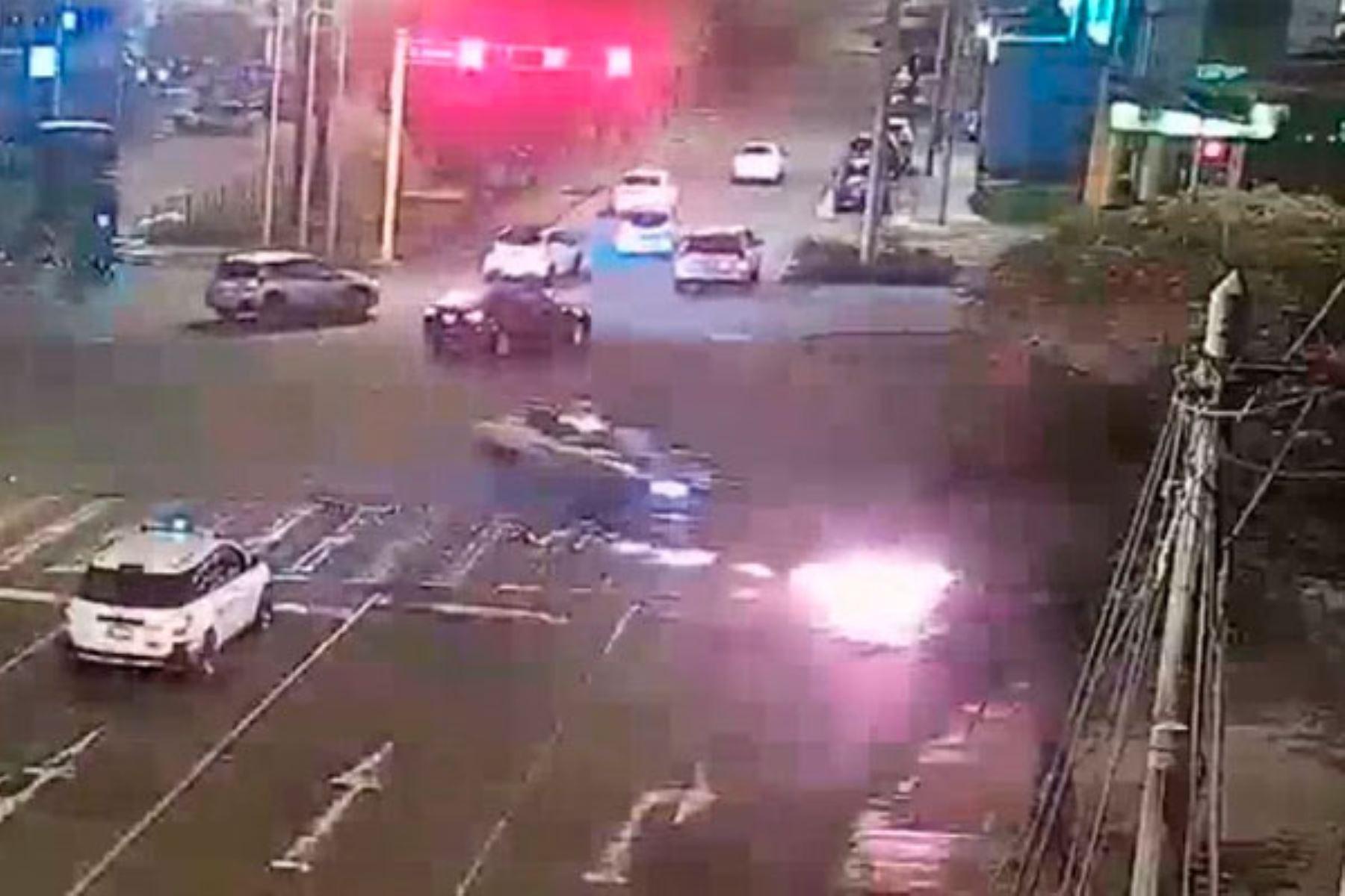 Motociclista sufrió lesiones severas. Foto: ANDINA/Municipalidad de Surco