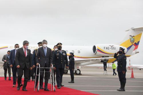 El Presidente de Ecuador, Guillermo Lasso llega al Perú para toma de mando del presidente electo Pedro Castillo