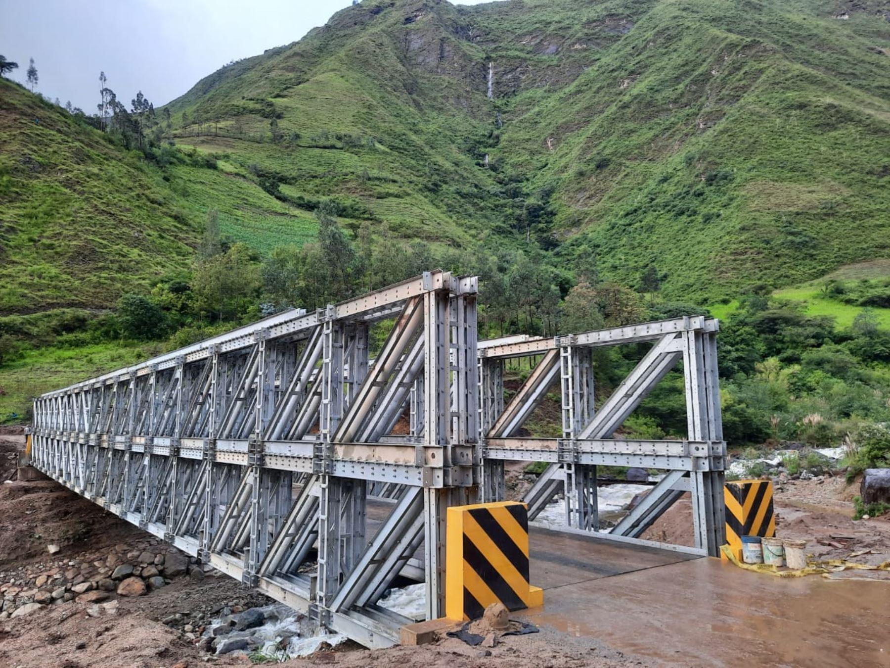 Piura : MTC instaló 12 puentes modulares como parte de la Reconstrucción con Cambios