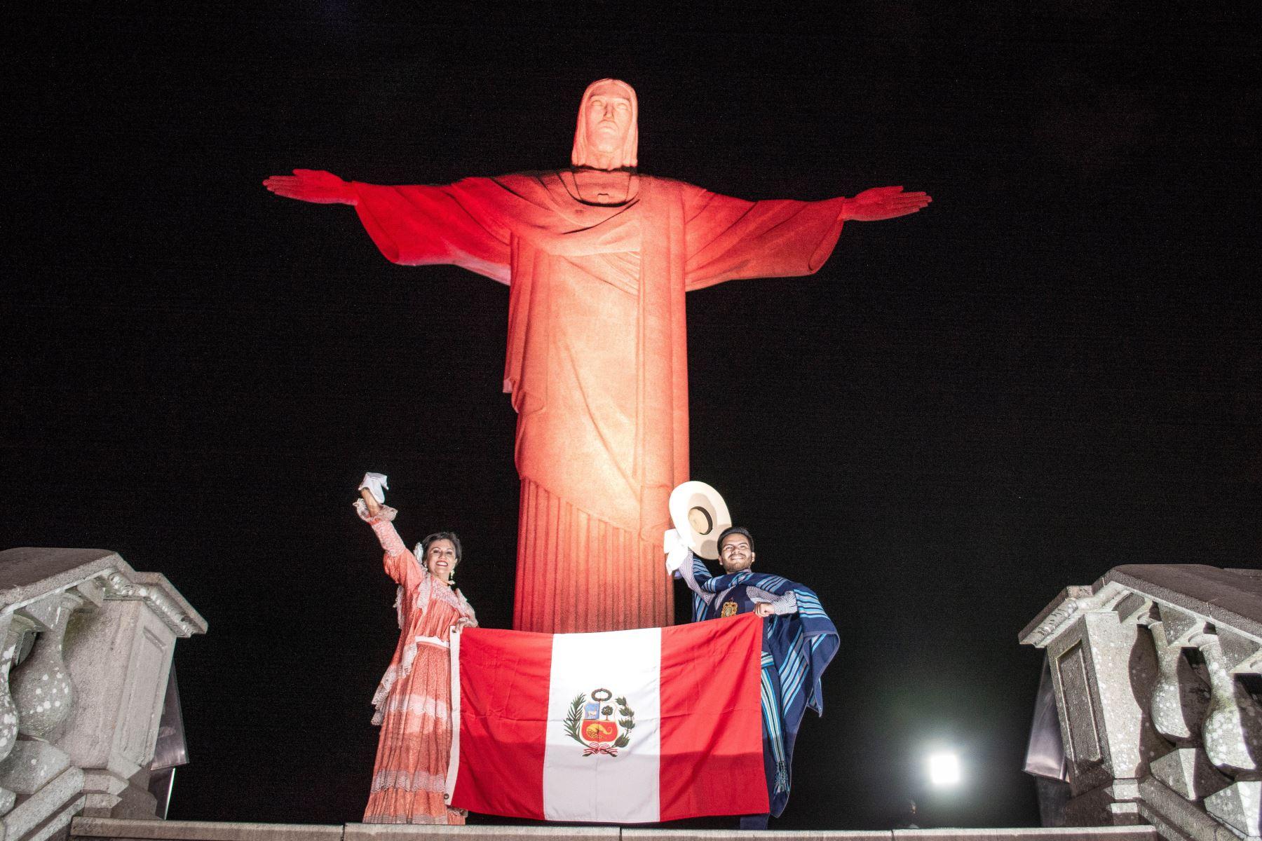 Cristo Redentor de Río de Janeiro se une a la conmemoración del Bicentenario. ANDINA/Difusión
