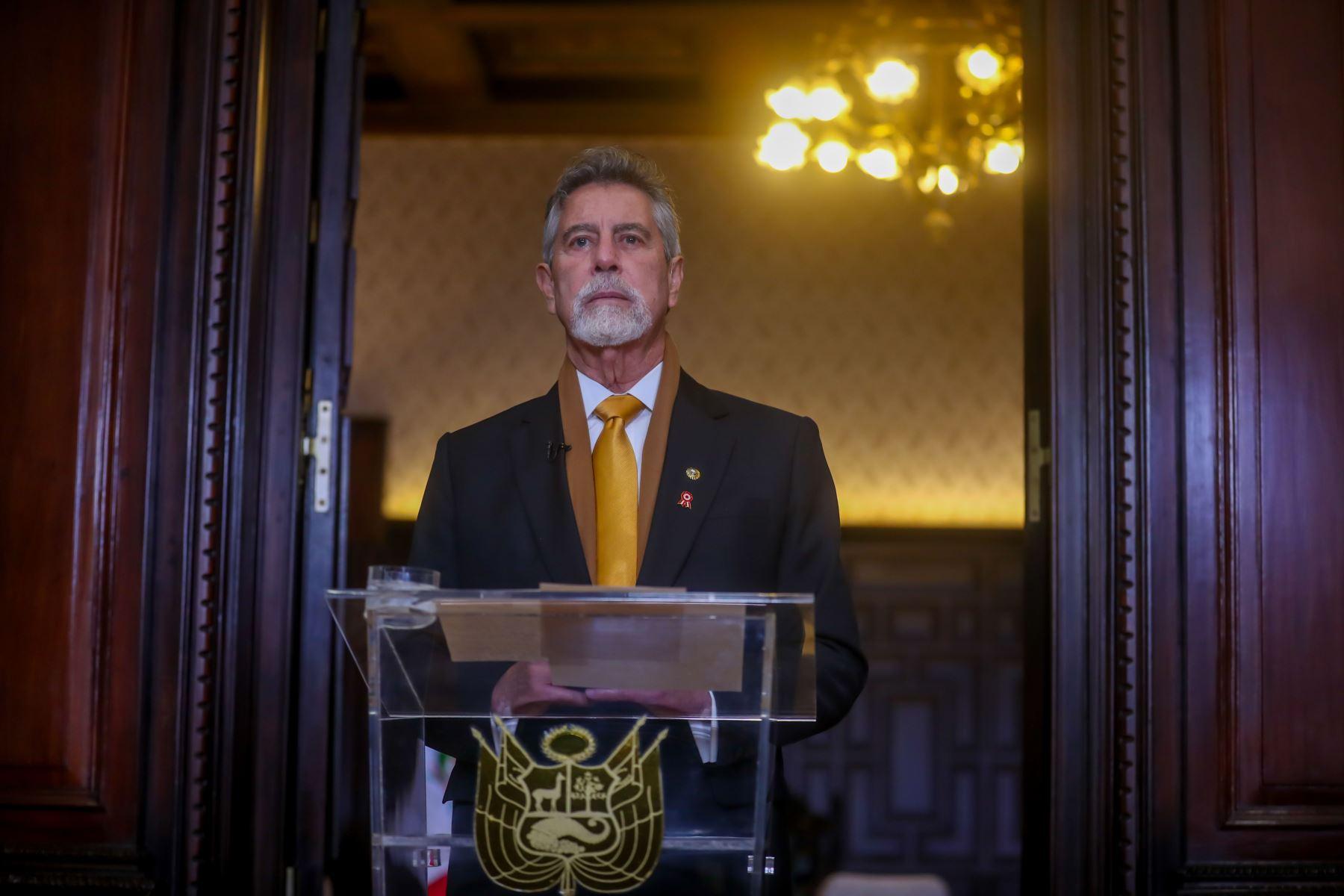 Último Mensaje a la Nación del presidente de la República, Francisco Sagasti. Foto: ANDINA/Prensa Presidencia