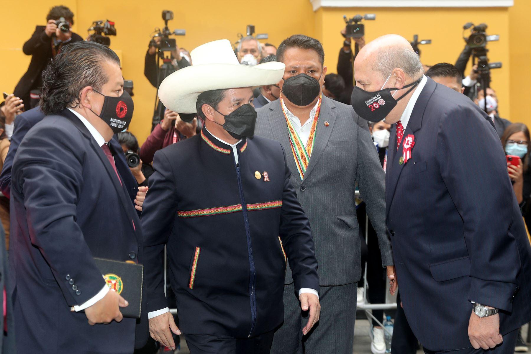 Llegada de presidente electo Pedro Castillo a Torre Tagle.Foto: ANDINA/Prensa Presidencia