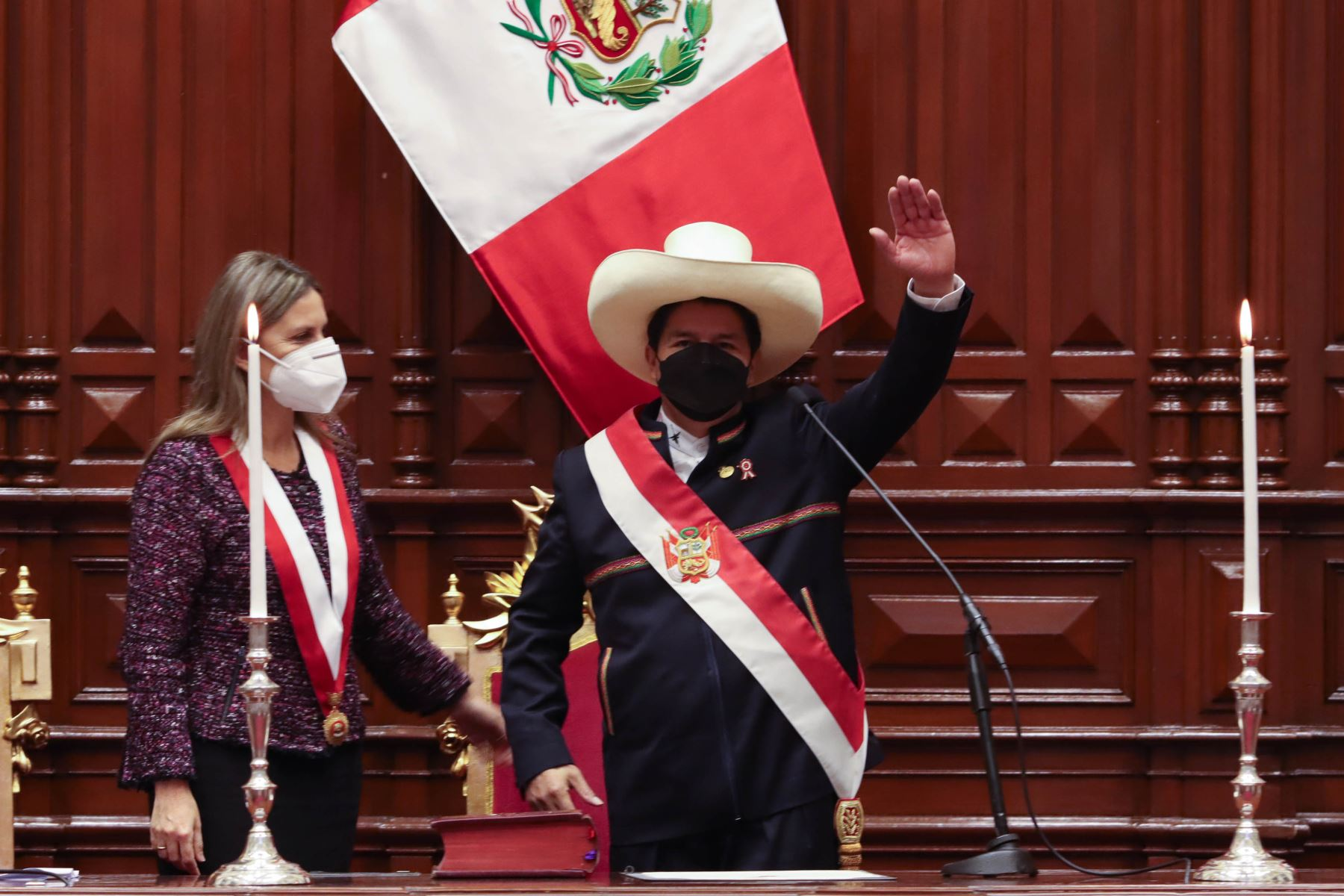 Pedro Castillo jura como Presidente de la República en el Bicentenario. Foto: ANDINA/Prensa Presidencia