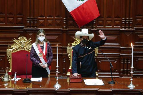Ceremonia de Toma del Mando Supremo del Presidente de la  República Pedro Castillo Terrones