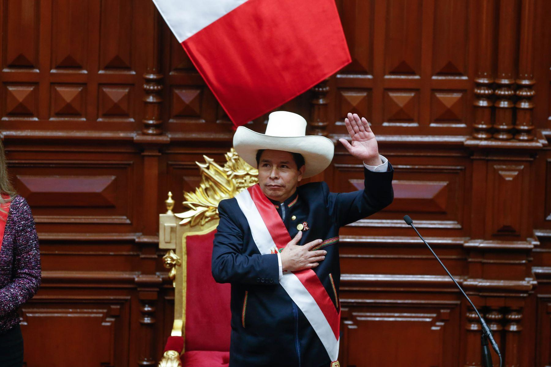 Ceremonia de Toma del Mando Supremo del Presidente de la  República Pedro Castillo Terrones. Foto: ANDINA/ Prensa Presidencia