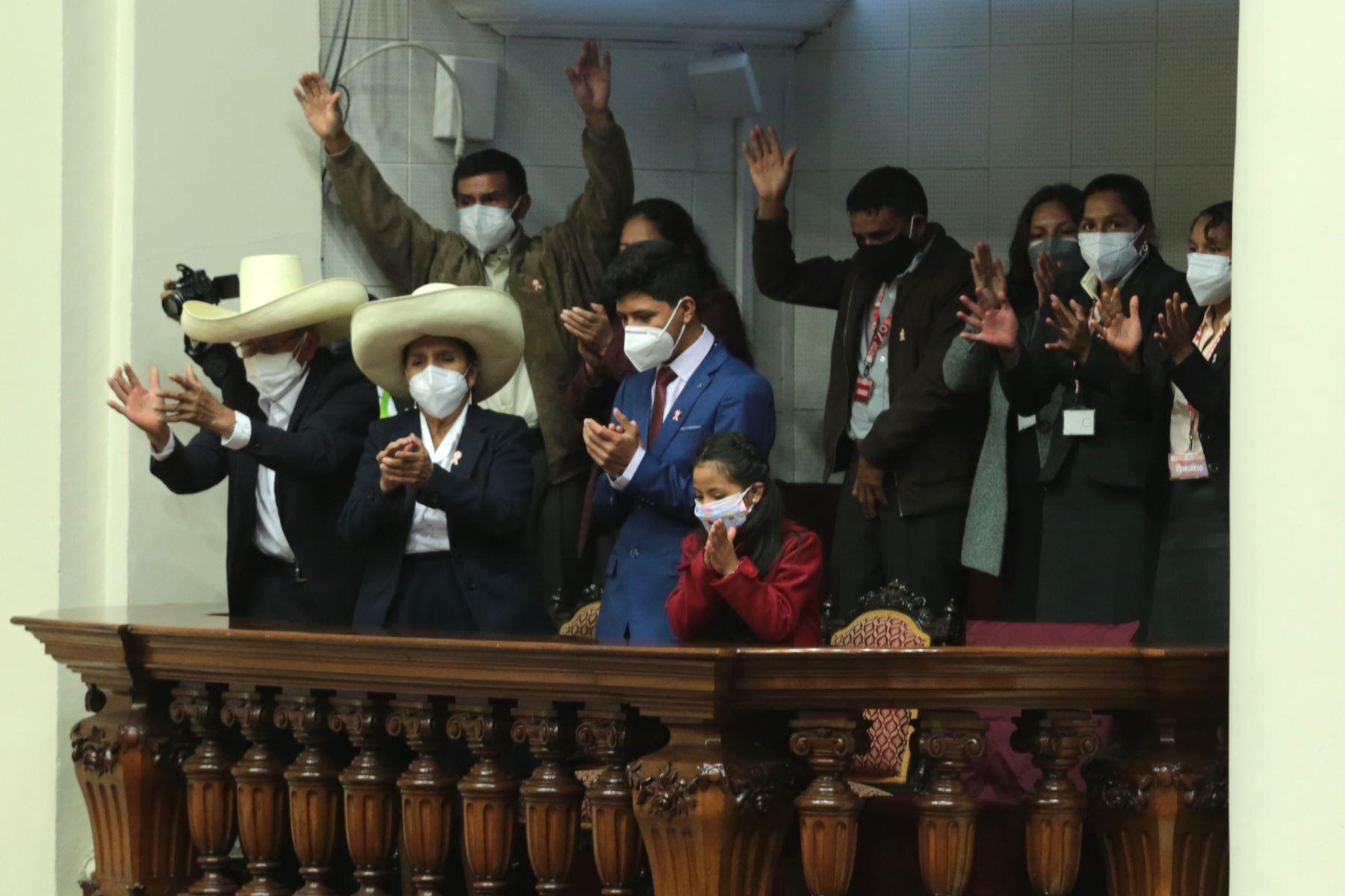 Ceremonia de Toma del Mando Supremo del Presidente de la  República Pedro Castillo Terrones.  Foto: Congreso de la República