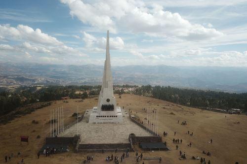 Imágenes de la Pampa de la Quinua, Ayacucho, donde se desarrollará el acto simbólico de juramentación del presidente Pedro Castillo