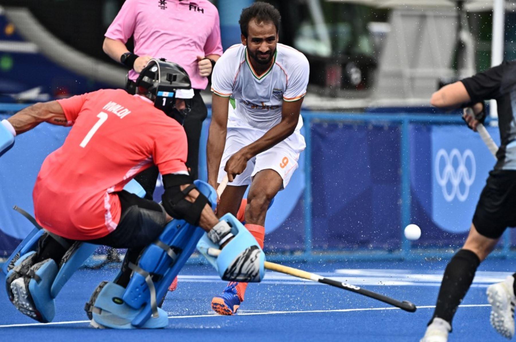 La actual campeona olímpica de hockey, Argentina, registró un duro revés ante la India