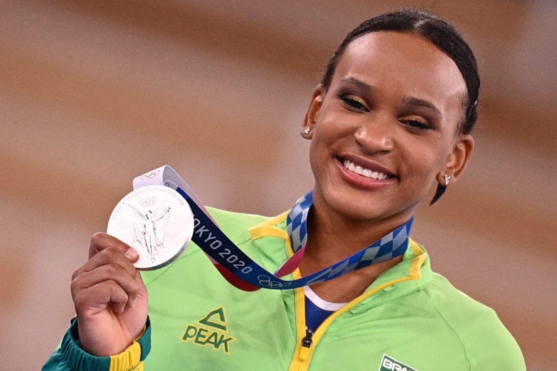 Rebeca Andrade le dio la sétima medalla a Brasil en los Juegos Tokio 2020