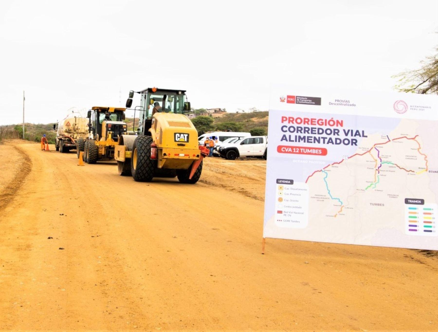 MTC destacó que programa ProRegión impulsa el desarrollo y competitividad regional con obras de mejoramiento de más de 15,000 km de caminos departamentales. Foto: ANDINA/difusión.