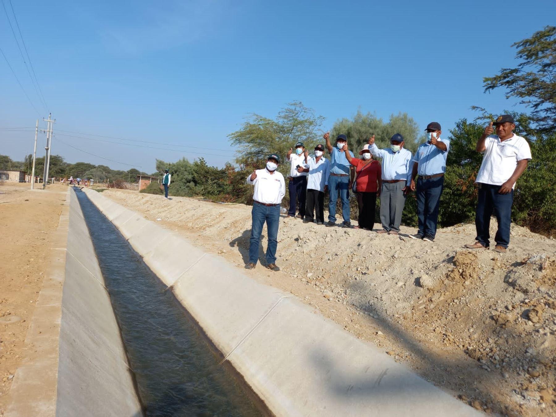 Piura: inauguran canal de riego que atenderá a 1,021 hectáreas de cultivo