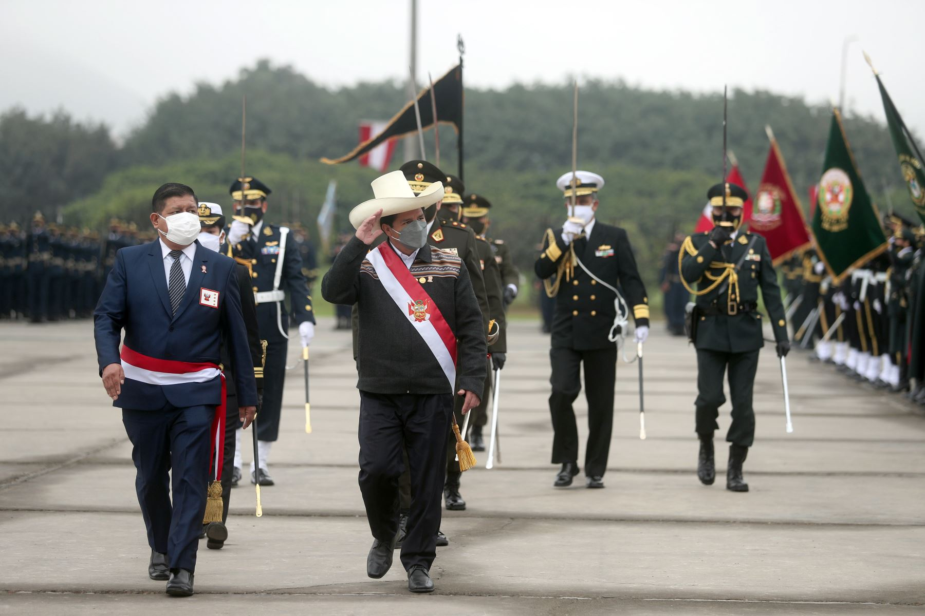 Gran Parada Cívico Militar por Fiestas Patrias y  reconocimiento del señor presidente de la República, Pedro Castillo, como jefe supremo de las Fuerzas Armadas y Policía Nacional del Perú, y Desfile Militar por Fiestas Patrias. Foto: ANDINA/Prensa Presidencia